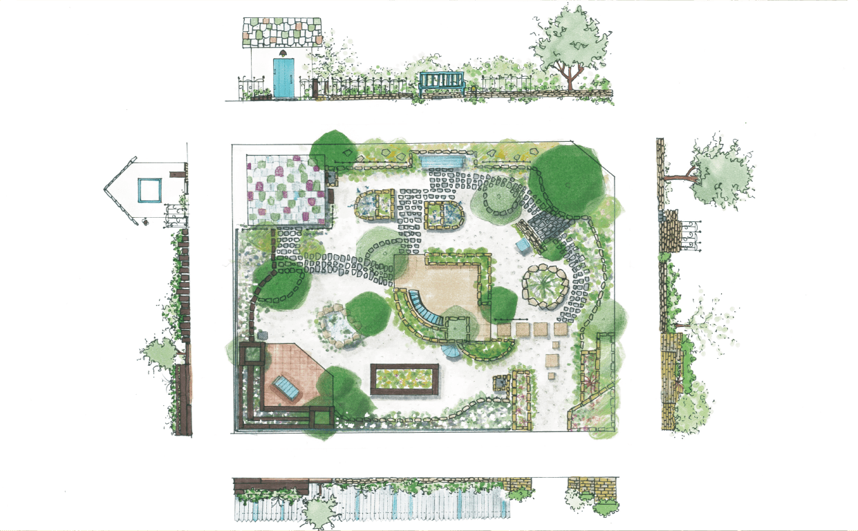 グリーン・サムの庭造りの流れ